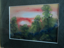 Original Water Color Painting of Hudson Valley pasture by Vivian Gaines Tanner image 7