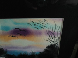Original Water Color Painting Hudson Valley Bird Sunset by Vivian Gaines Tanner image 6