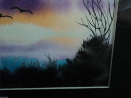 Original Water Color Painting Hudson Valley Bird Sunset by Vivian Gaines Tanner image 7