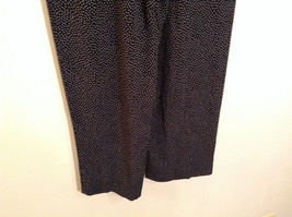 Orvis Size 10 Black with White Polka Dots Pants Side Zipper Side Pockets image 4
