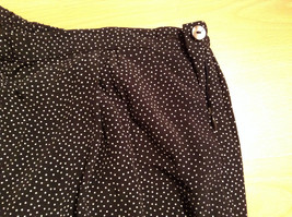 Orvis Size 10 Black with White Polka Dots Pants Side Zipper Side Pockets image 5