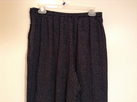 Orvis Size 10 Black with White Polka Dots Pants Side Zipper Side Pockets image 3