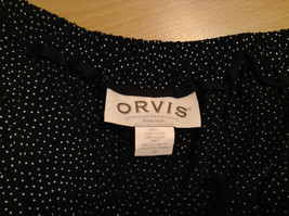 Orvis Size 10 Black with White Polka Dots Pants Side Zipper Side Pockets image 6