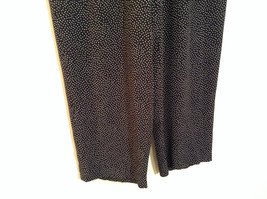 Orvis Size 10 Black with White Polka Dots Pants Side Zipper Side Pockets image 2
