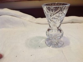 Small petite small cut glass vintage vase early American from estate