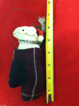"""Pair of Tan Christmas Mice in """"Joy"""" Mitten - Comes with Hanging Wire image 5"""