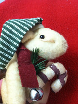 Pair of Weighted Tan Christmas Mice - Can Stand Upright image 4