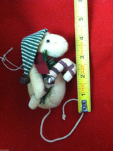 Pair of Weighted Tan Christmas Mice - Can Stand Upright image 3