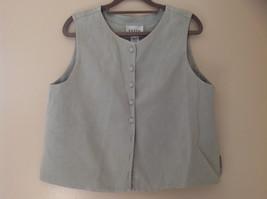 Pale Green matching Sleeveless Shirt and Skirt Set Eileen Fisher Size Size Small image 2