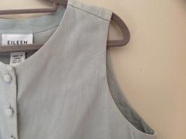 Pale Green matching Sleeveless Shirt and Skirt Set Eileen Fisher Size Size Small image 5