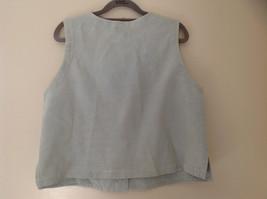 Pale Green matching Sleeveless Shirt and Skirt Set Eileen Fisher Size Size Small image 6