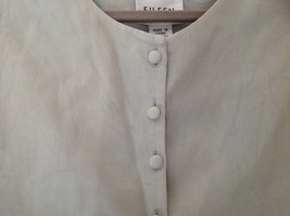 Pale Green matching Sleeveless Shirt and Skirt Set Eileen Fisher Size Size Small image 3