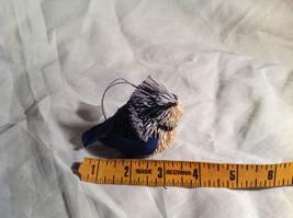 Palm Fiber Perched Bluebird Brush Animal Eco Fiber Sustainable Ornament image 5