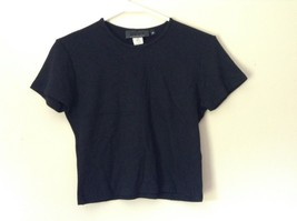 Soft Stretchy Black Short Sleeve Shirt by DKNY Essentials Size Medium