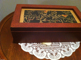 Paper Cutting Vines and Birds Large Trinket Box image 2