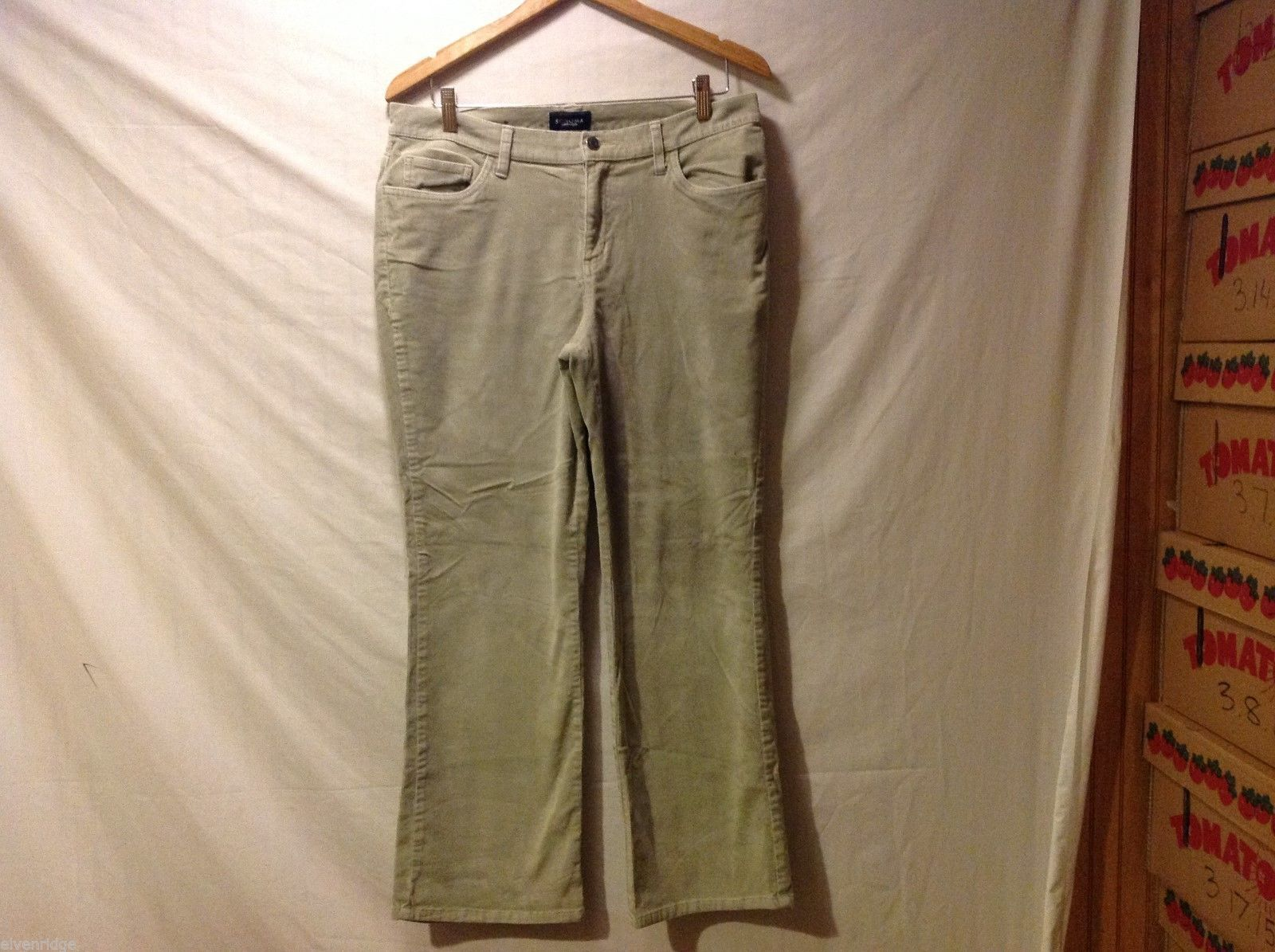 Sonoma Corduroy Womens Light Gray Pants, Size 12 Short
