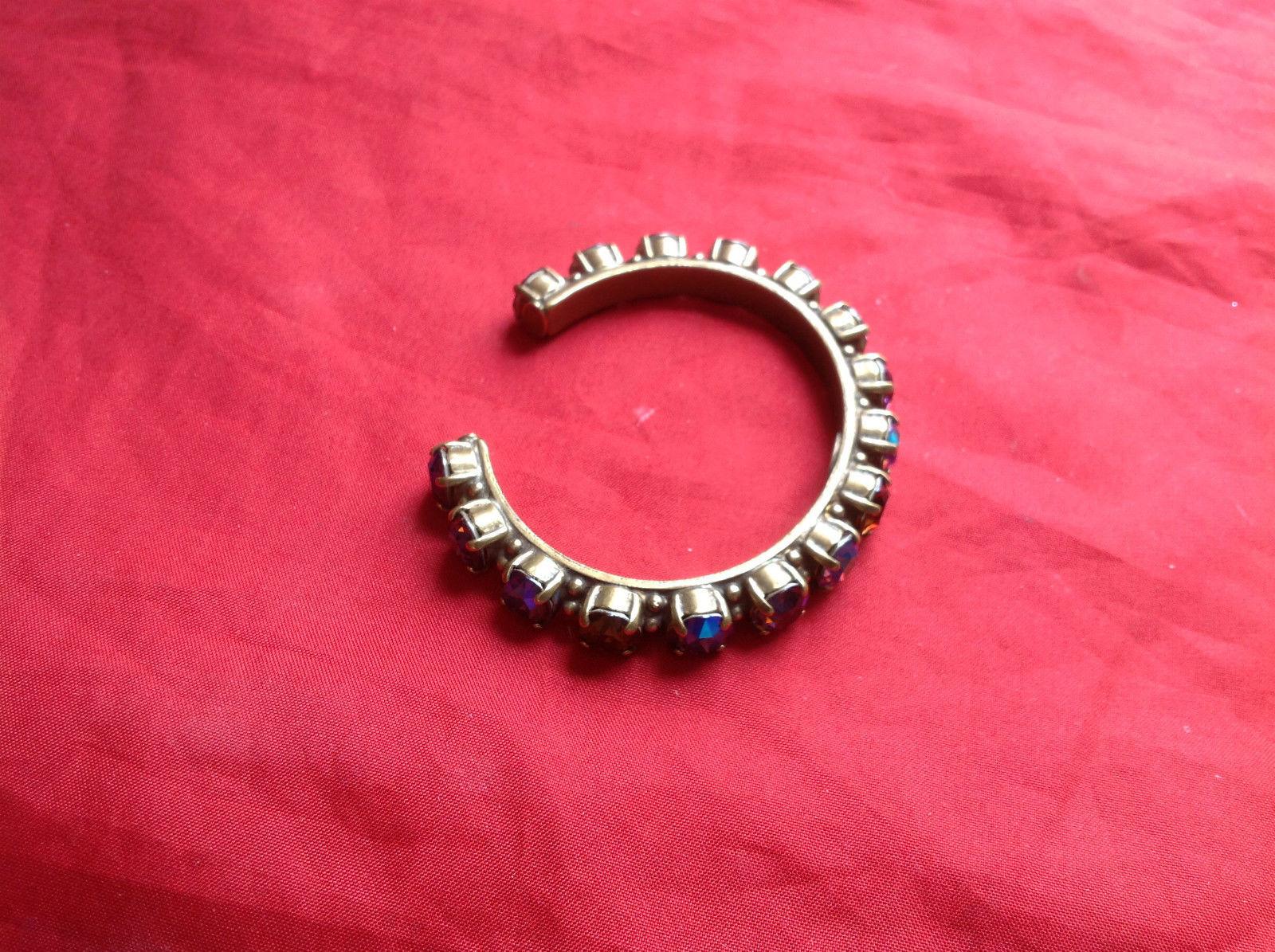 Sorrelli Gold Purple Bracelet Open Adjustable