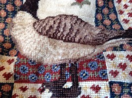 Patchwork Look Pillowcase Needlework with Goose 11 inches by 11 inches image 4
