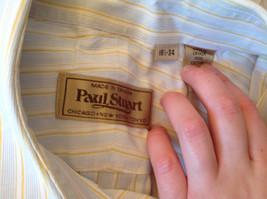 Paul Stuart Light Blue and Yellow Stripes Long Sleeve Button Up Shirt Size 16.5 image 11