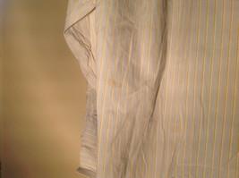 Paul Stuart Light Blue and Yellow Stripes Long Sleeve Button Up Shirt Size 16.5 image 10