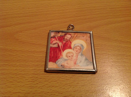 Peace on Earth Saints Charm Gift Tie on Versatile Metal Glass Tag Reversible image 2