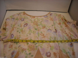 Peach Floral Contra Dance Dress Handmade by North Carolina Artist image 3