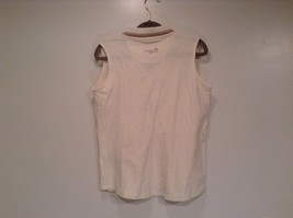 Pebble Beach Size S Natural White Cream Colored Sleeveless Shirt All Cotton image 4