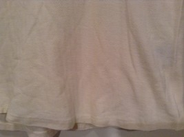 Pebble Beach Size S Natural White Cream Colored Sleeveless Shirt All Cotton image 3