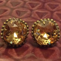 Sorrelli  Gold Tone Finish with Crystal Light Amber Authentic Antique