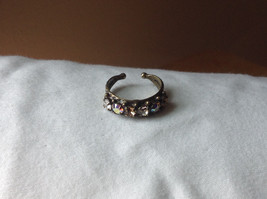 Sorrelli Neutral Color Stone Open Back Gold Tone Ring Antique Style Handcrafted