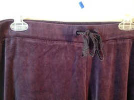 Purple Velvet White Stag Sweat Pants Tie at Waist for Adjustment Size XL image 2