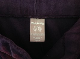 Purple Velvet White Stag Sweat Pants Tie at Waist for Adjustment Size XL image 4