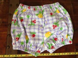 Purple Plaid Fruit Patterned Infant Shorts Cherries Oranges Size 24 Months image 6