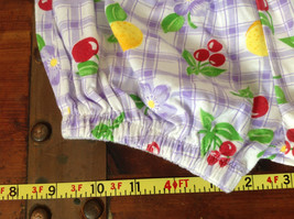 Purple Plaid Fruit Patterned Infant Shorts Cherries Oranges Size 24 Months image 4