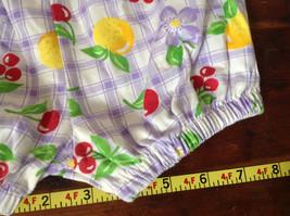 Purple Plaid Fruit Patterned Infant Shorts Cherries Oranges Size 24 Months image 5