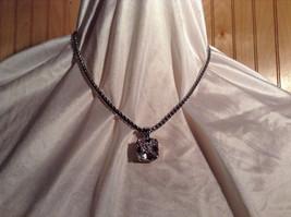 Square 16 CT CZ Stone White Gold Rhodium Pendant Necklace Thick Sturdy Chain