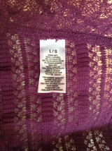 Purple Short Sleeve Size Large Aeropostale Knitted Pullover Top image 2