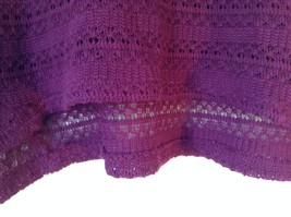 Purple Short Sleeve Size Large Aeropostale Knitted Pullover Top image 5