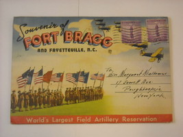 Souvenir Folder Fort Bragg Pictures 1942 North Carolina