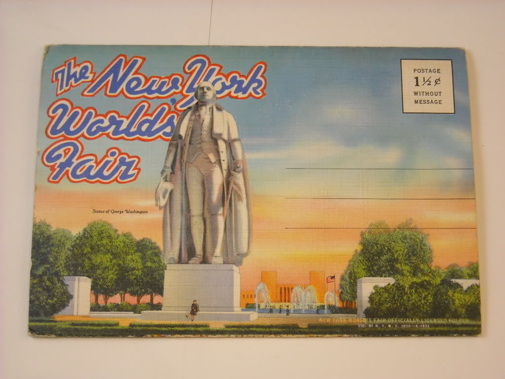 Souvenir Folder Pictures 1939 Vermont NY Worlds Fair