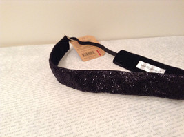 Sparkling Black NEW Headband One Size No Slip Velvety Lining - $279,45 MXN