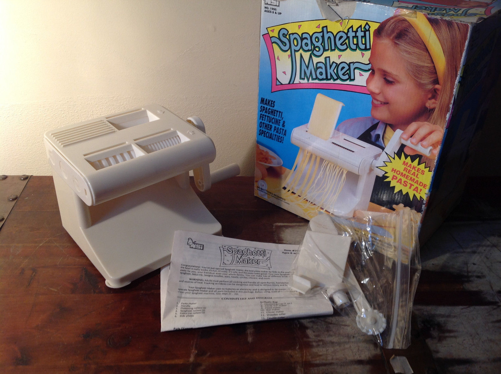 Spaghetti Maker for Kids Makes Real Pasta Compete with Box and Instructions