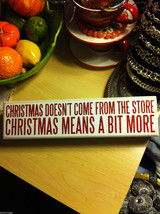 Sparkly Box Sign Wall or Desk Mantel Display Grinch saying Christmas is More