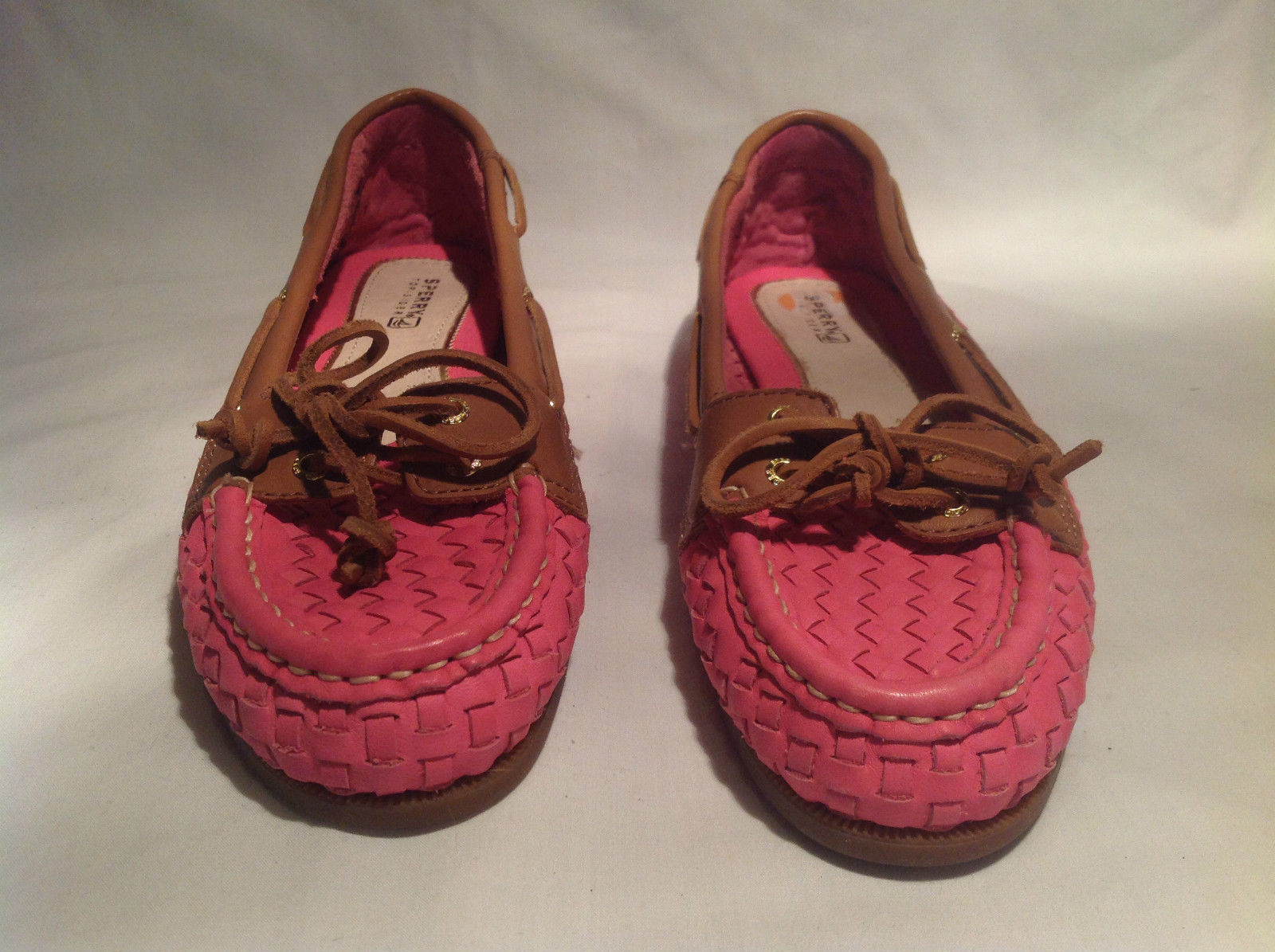 Sperry Top Sider Pink Flats Size 7M Leather Upper Great Condition