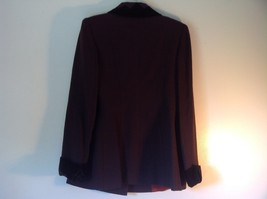 Raquel Couture Brown Blazer Four Fancy Button Closure No Size Tag Made in USA image 4