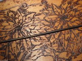 Antique Flemish Art Small Wood burnt key Hanger image 5