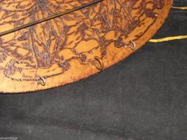 Antique Flemish Art Small Wood burnt key Hanger image 6