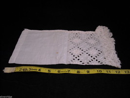 Antique Floral Lace Shirt Sleeve White 1900s Vintage Fabric Craft Salvage Scrap image 2