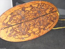 Antique Flemish Art Small Wood burnt key Hanger image 4