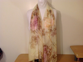 Peony Summer Sheer Fabric Scarf, pastel colors of your choice image 3